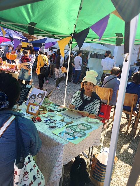 浜松,イベント,カフェ,おさんぽ日和,東区子安町,10月25日,somaru,似顔絵