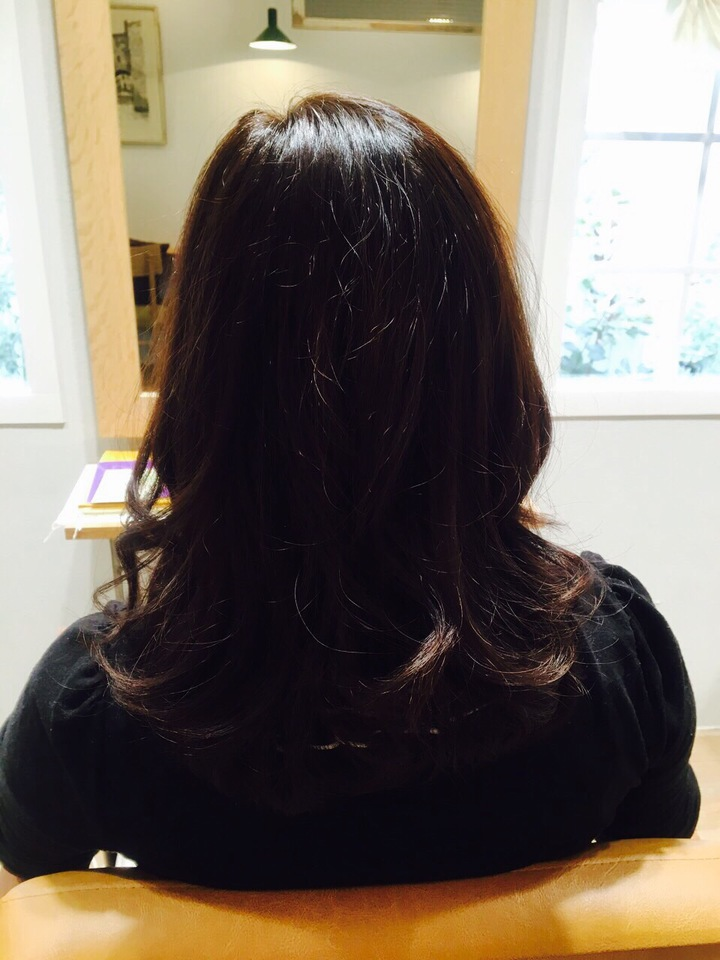 2015秋ヘアカラー髪色ダークトーン暗い深いアッシュブラウン