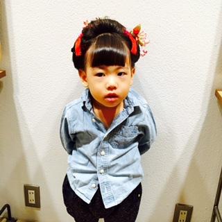 七五三浜松ヘアセット3歳3さい3才セット可愛いかわいい静岡7才