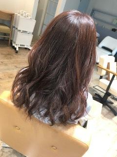 浜松市東区美容室ニキヘアーネイル春ピンクバイオレットカラー2017流行り