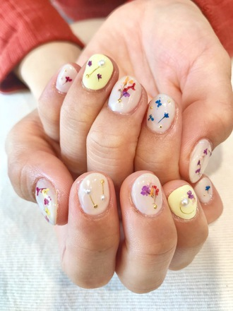 ニキネイル 子安町 可愛い 浜松 ジェル デザイン 春デザイン