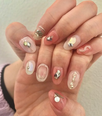 ニキネイル 子安町 可愛い 浜松 ジェル デザイン 春デザインのサムネイル画像
