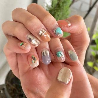 ニキネイル 子安町 可愛い 浜松 ジェル デザインのサムネイル画像